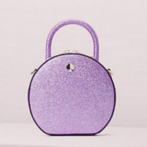 kate spade purple andi glitter canteen bag purse